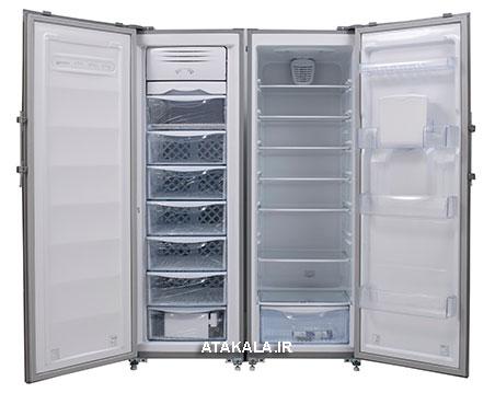 یخچال فریزر دوقلوی امرسان نقره ای(نمای داخلی)